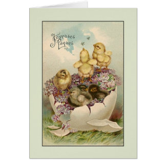 Victorian French Joyeuses Pâques Easter Card