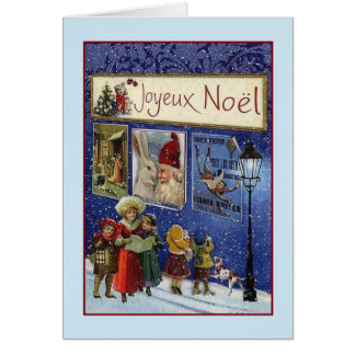 Victorian French Joyeux Noël Christmas Card