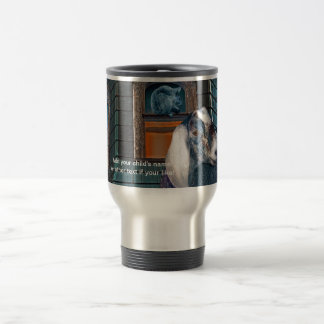 Victorian Friends Cute Goat and Squirrel Fantasy Stainless Steel Travel Mug