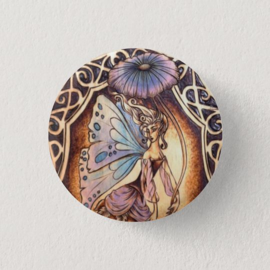 Victorian Garden Fairy Button Pin