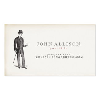 Victorian Gentleman's Vintage Calling Card 2 Pack Of Standard Business Cards