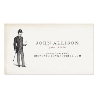 Victorian Gentleman's Vintage Calling Card 2 Pack Of Standard Business Cards