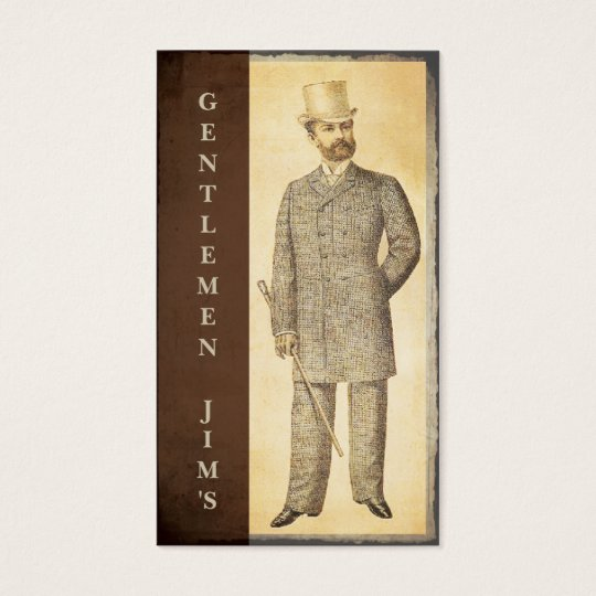 Victorian Gentlemen Vintage Antique Business Card