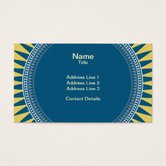 VIctorian Geometric Pattern - Blue and Yellow Business Card
