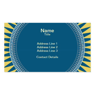 VIctorian Geometric Pattern - Blue and Yellow Pack Of Standard Business Cards