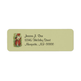 Victorian Girl Pet chicken Return address Label
