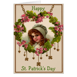 Victorian Girl St. Patrick's Day Greeting Card