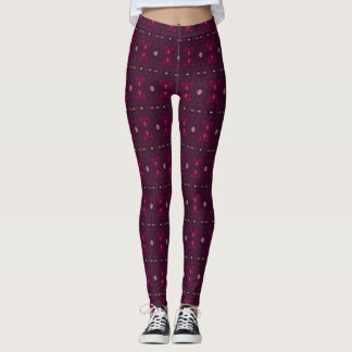 Victorian Girl Wine Kiss Love Leggings