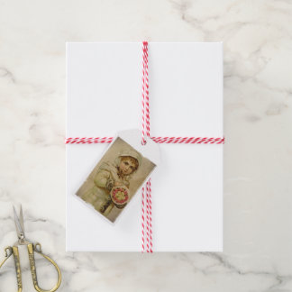 Victorian Girl with Christmas Roses Gift Tags
