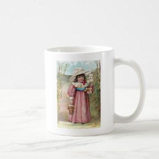 Victorian Girl with Easter Lilies for Grandma Basic White Mug