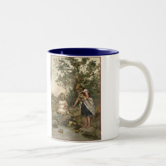 Victorian Girls Beside A Stream Coffee Mug