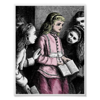 Victorian Girls Study Time Lessons Art Print