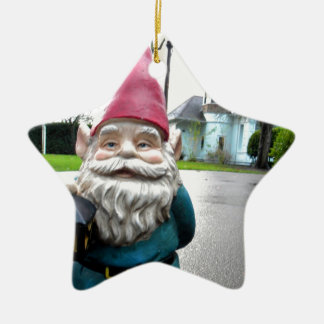 Victorian Gnome Ceramic Star Decoration