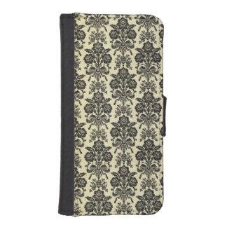 Victorian gothic black floral grunge vintage chic iPhone 5 wallet