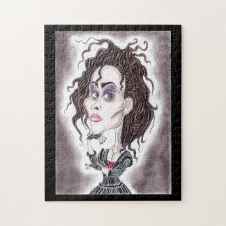 Victorian Gothic Dark Caricature Drawing Puzzle