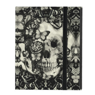 Victorian gothic lace skull iPad cases