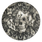 Victorian Gothic Lace skull Plate