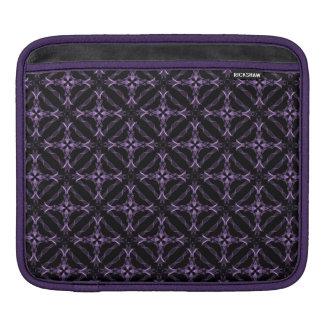 Victorian Gothic Purple Fractal Pattern iPad Sleeve