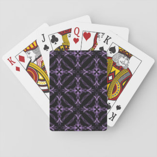 Victorian Gothic Purple Fractal Pattern Playing Cards