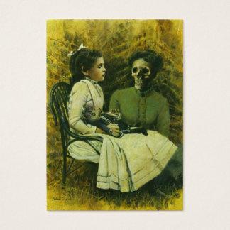 Victorian Gothic Werewolf Girl ACEO Busines Card