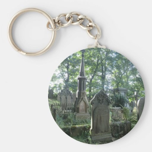 Victorian Gravestones at the Bronte Parsonage Key Chain