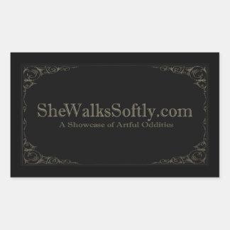 Victorian Gray Rectangular Sticker