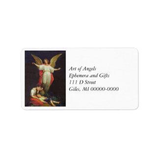 Victorian Guardian Angel Label