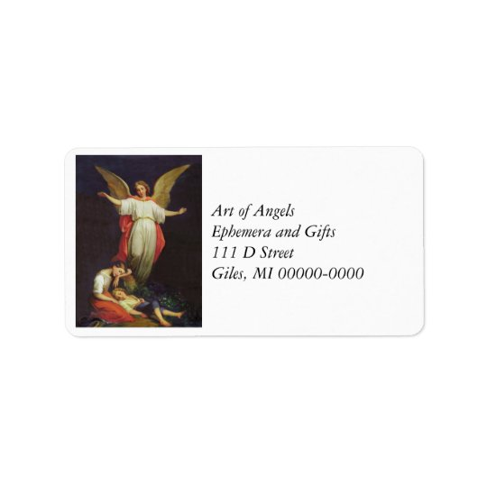Victorian Guardian Angel Label