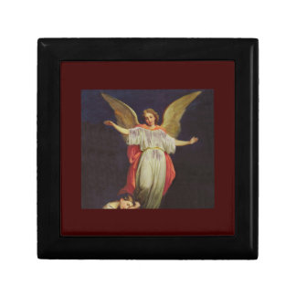 Victorian Guardian Angel Small Square Gift Box