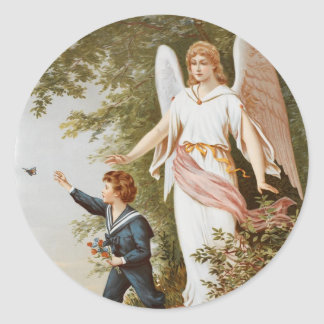 Victorian Guardian Angel Stickers