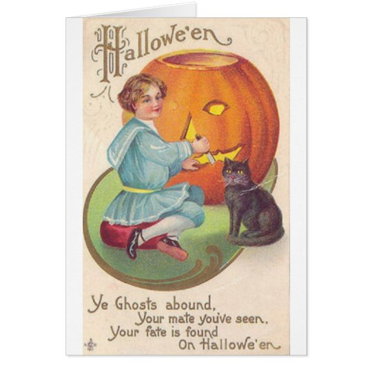 Victorian Halloween Card