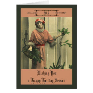 Victorian Hapy New Year Card