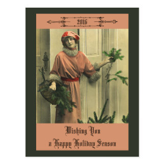 Victorian Hapy New Year Postcard