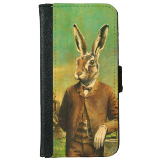 Victorian Hare iPhone 6s Leather Wallet iPhone 6 Wallet Case