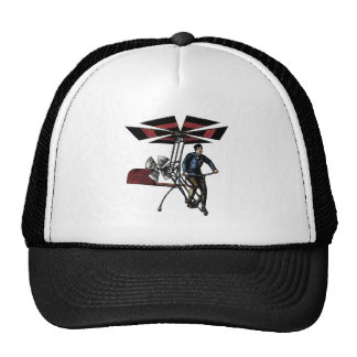 Victorian Helicopter Aircraft Contraption Trucker Hat