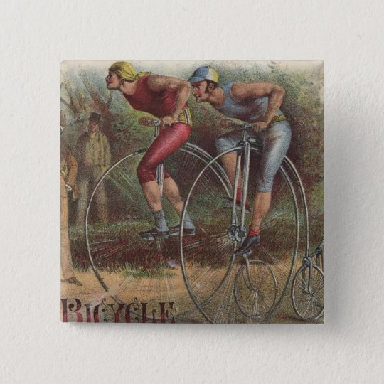 Victorian High Wheel Bicycles 15 Cm Square Badge