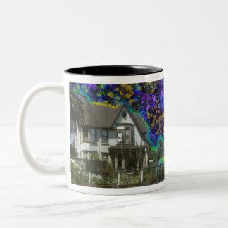 Victorian Home in Eureka, California coffee cup Two-Tone Coffee Mug