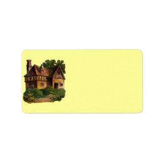 Victorian House Address Label