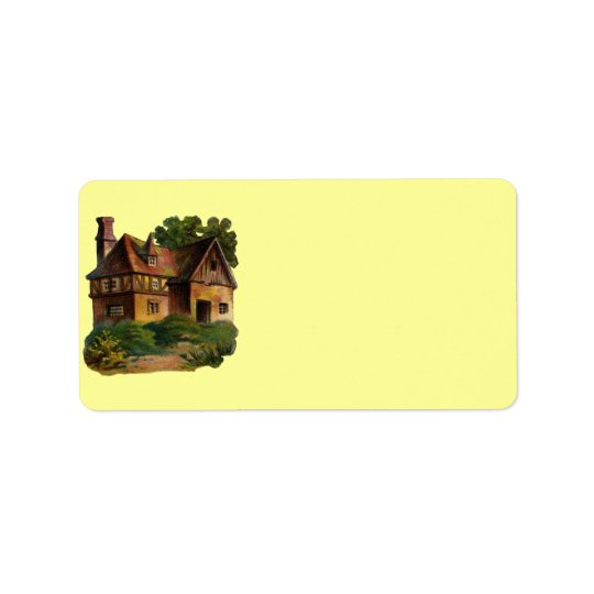 Victorian House Address Label