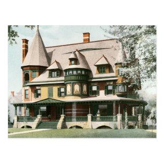 Victorian House Change of Address Postcard