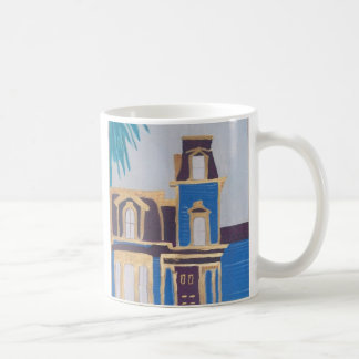 victorian house coffee mug
