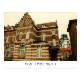 Victorian house, industrial steel bridge postcard