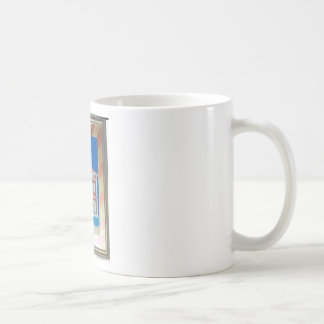 victorian house basic white mug