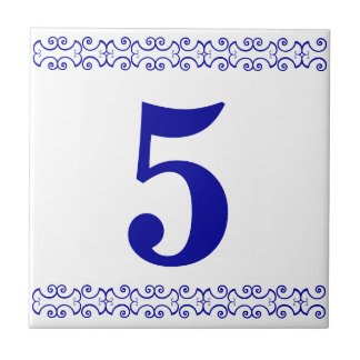 Victorian House Number Tile