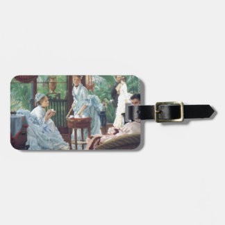Victorian House Party Tea Fashion Tissot Luggage Tag