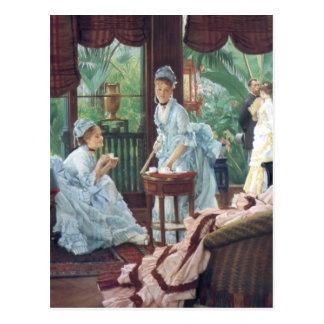 Victorian House Party Tea Fashion Tissot Postcard