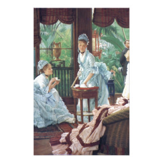 Victorian House Party Tea Fashion Tissot Stationery
