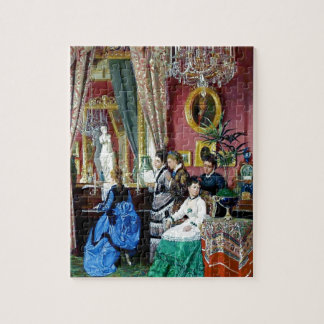 Victorian House Party Women Men Music painting Jigsaw Puzzle