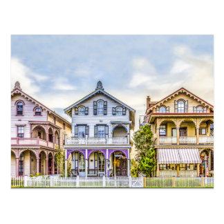 Victorian House Row Postcard