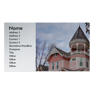 Victorian houses business card templates